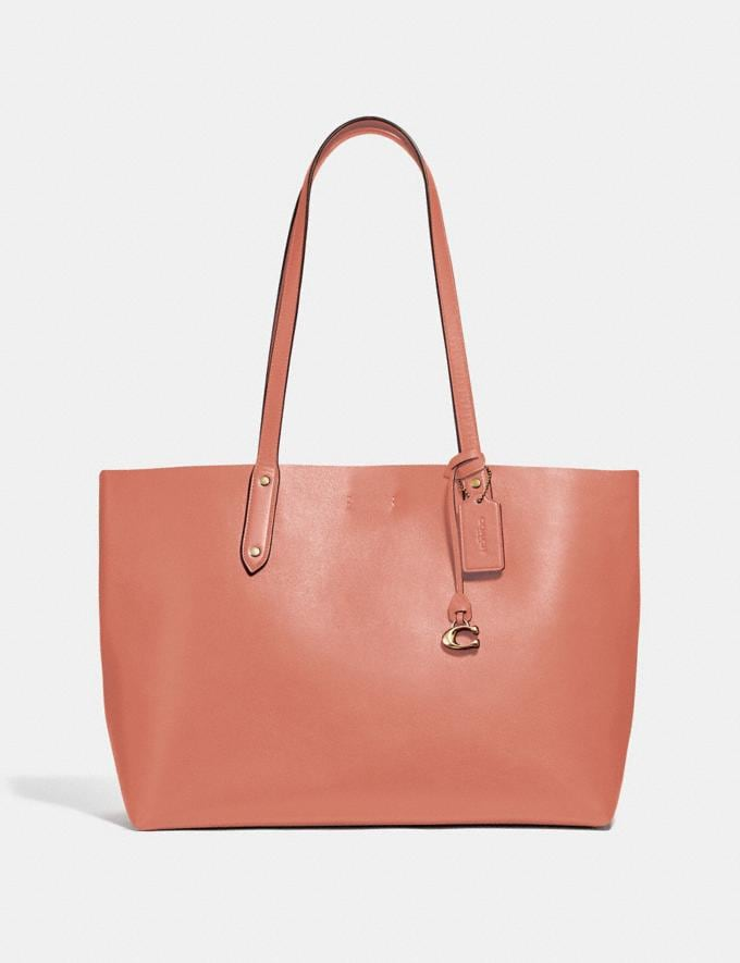 Coach Central Tote Light Peach/Gold Women Bags Totes