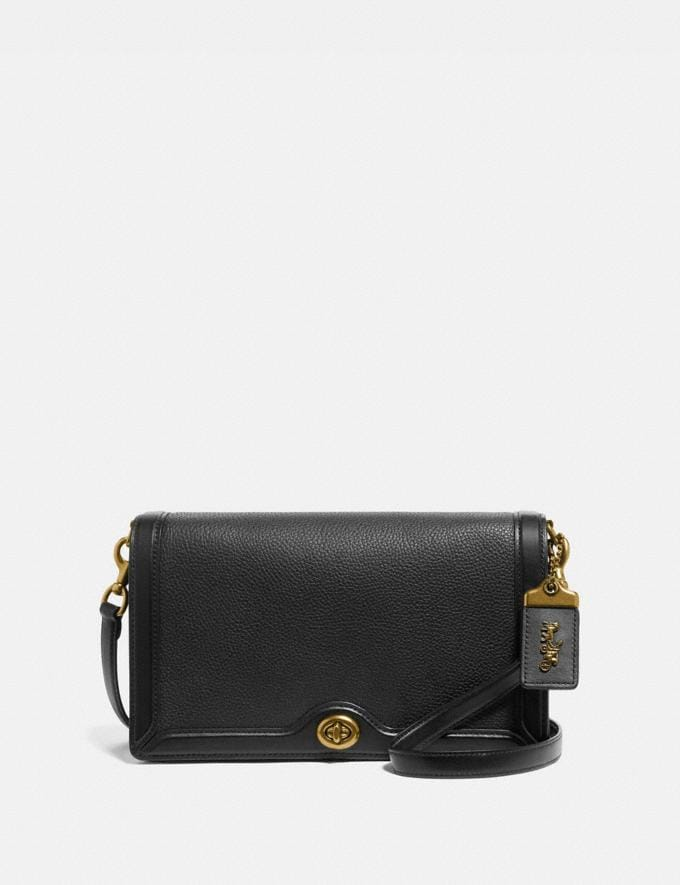 Coach Riley Black/Brass Women Handbags Crossbody Bags