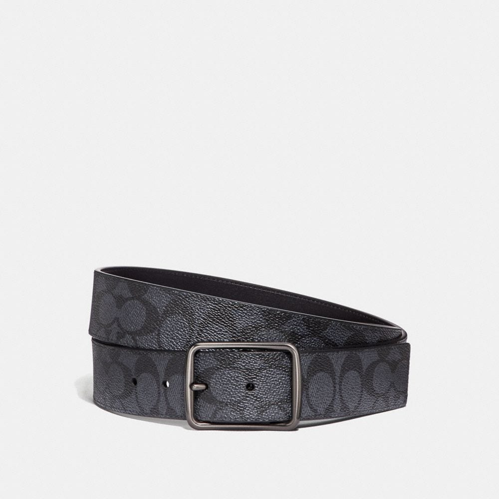 CUT-TO-SIZE REVERSIBLE BELT IN SIGNATURE CANVAS