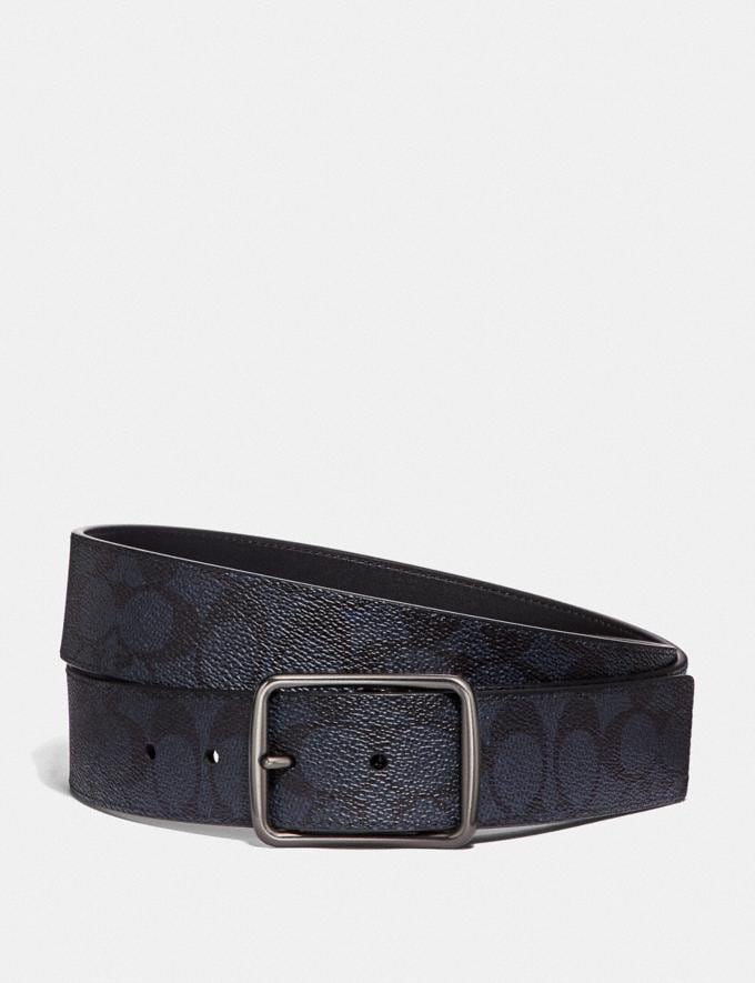 Coach Cut-To-Size Reversible Belt in Signature Canvas Midnight Men Accessories Belts