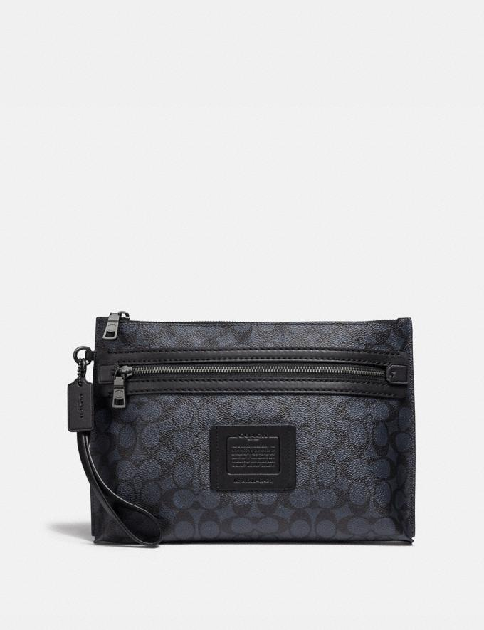 Coach Academy Pouch in Signature Canvas Midnight Men Bags Pouches