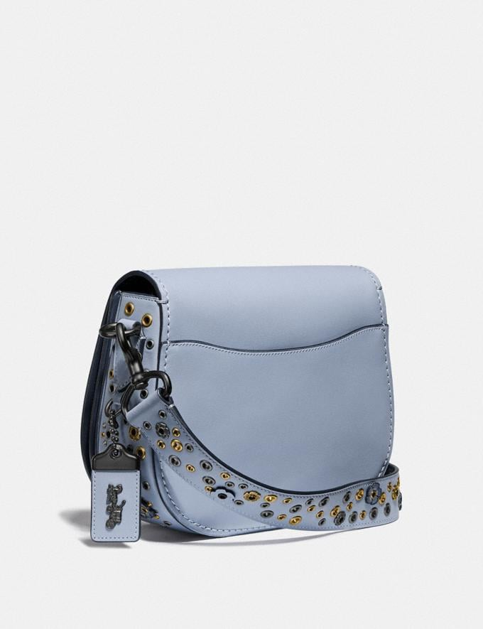 Coach Saddle With Scattered Rivets Pewter/Mist Cyber Monday Women's Cyber Monday Sale Bags Alternate View 1