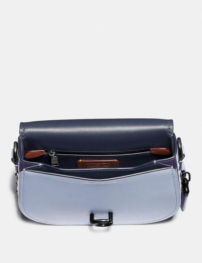 Coach Saddle With Scattered Rivets Pewter/Mist Cyber Monday Women's Cyber Monday Sale Bags Alternate View 2
