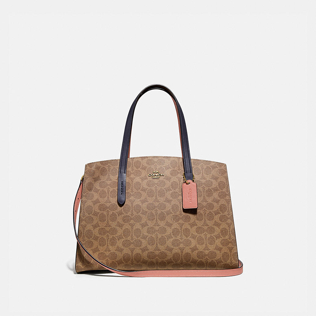 Charlie Carryall In Colorblock Signature Canvas by Coach