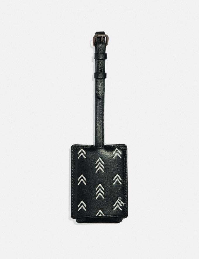 Coach Luggage Tag With Line Arrow Print Black/Chalk Event