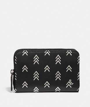 ACCORDION CARD CASE WITH LINE ARROW PRINT