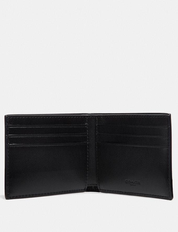 Coach Slim Billfold Wallet With Line Arrow Print Black/Chalk  Alternate View 1