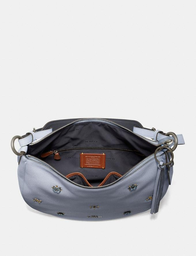 Coach Sutton Hobo With Scattered Rivets Pewter/Mist  Alternate View 3