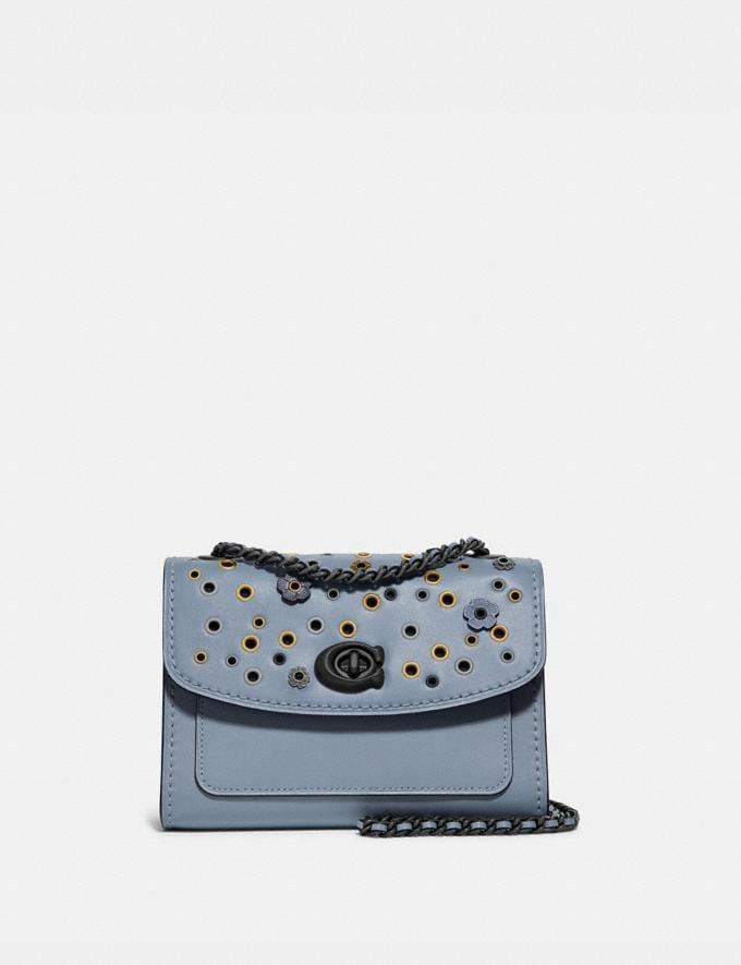 Coach Parker 18 With Scattered Rivets Pewter/Mist New Women's New Arrivals Bags