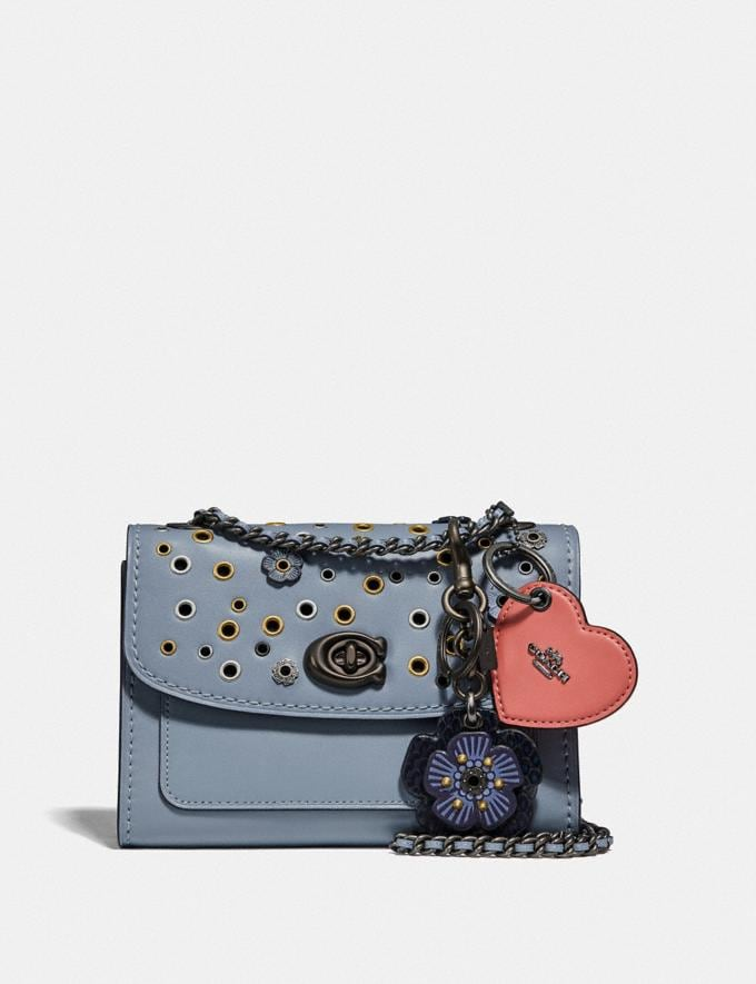 Coach Parker 18 With Scattered Rivets Pewter/Mist Women Collection Parker Alternate View 4