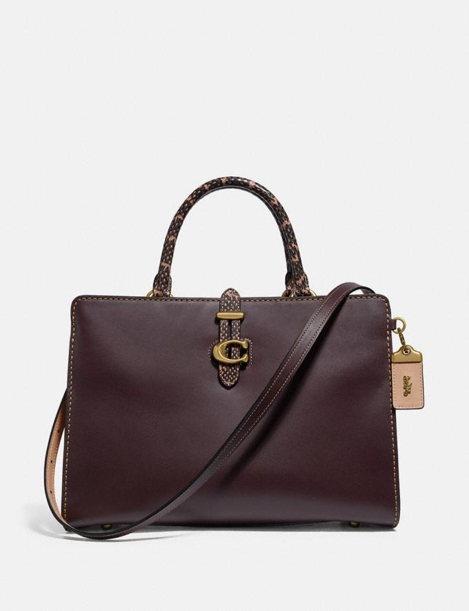 Coach Serra Satchel in Colorblock Brass/Oxblood Multi