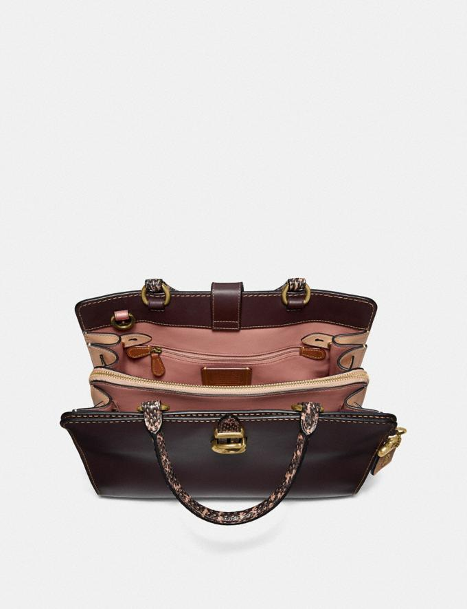 Coach Serra Satchel in Colorblock Brass/Oxblood Multi Women Bags Satchels & Carryalls Alternate View 2
