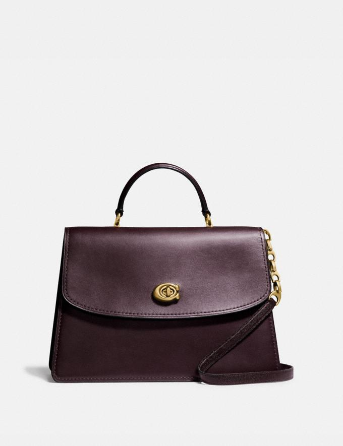 Coach Parker Top Handle 32 B4/Oxblood Cyber Monday Online Only Cyber Monday Sale Bags