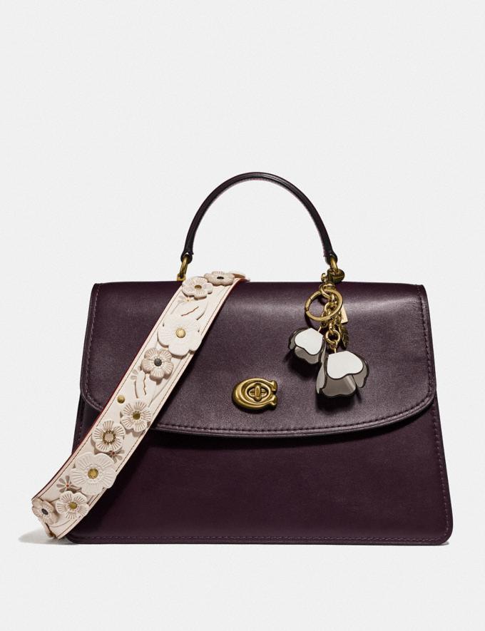 Coach Parker Top Handle 32 Brass/Oxblood Women Bags Satchels & Carryalls Alternate View 3