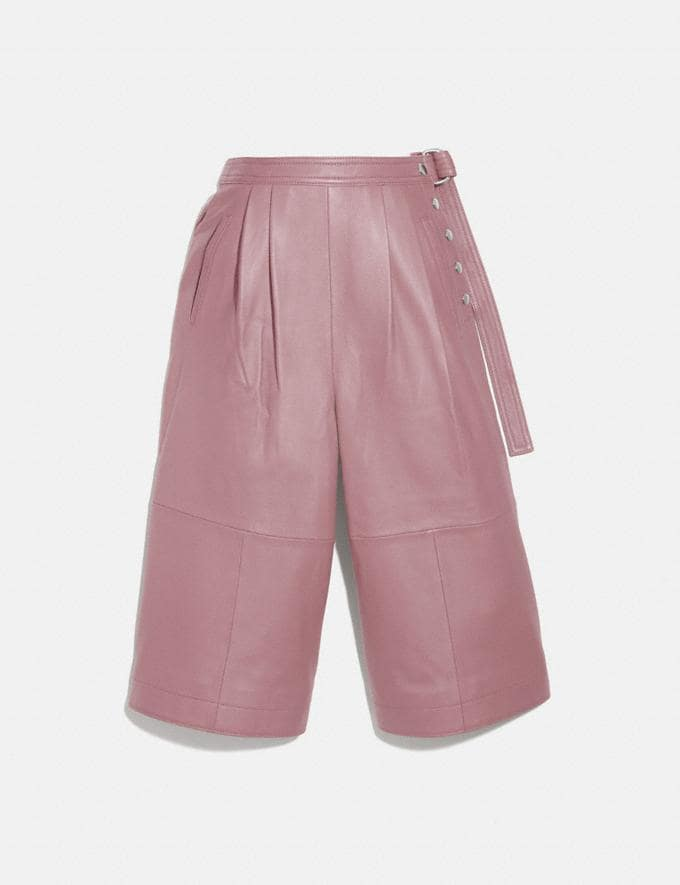 Coach Leather Culottes Evening Rose Women Ready-to-Wear Bottoms