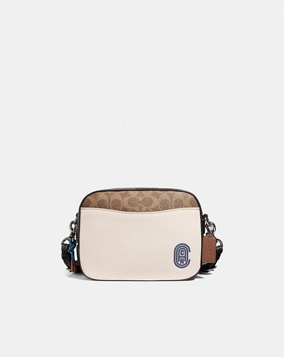 Coach CAMERA BAG IN SIGNATURE CANVAS WITH COACH PATCH