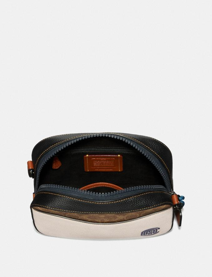 Coach Camera Bag in Signature Canvas With Coach Patch Tan/Chalk Multi/Gunmetal New Featured Online-Only Alternate View 3
