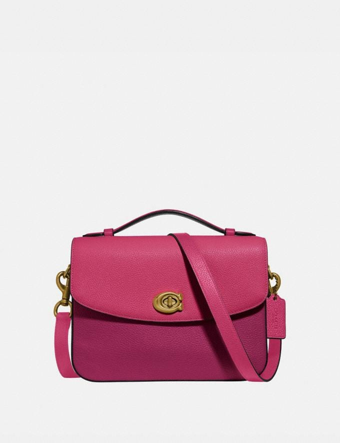 Coach Cassie Crossbody in Colorblock Bright Cherry Multi/Brass New Women's New Arrivals Bags