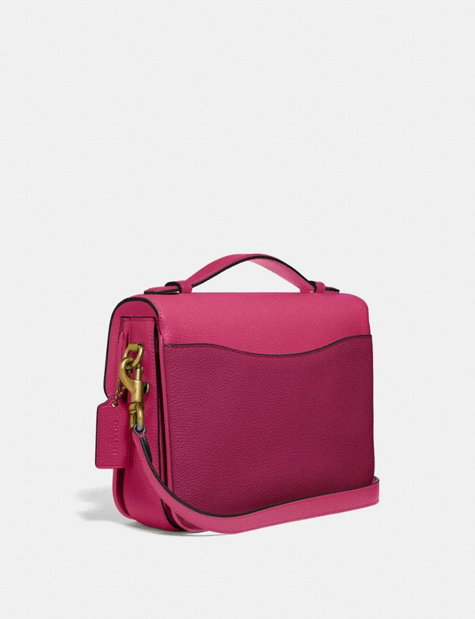 Coach Cassie Crossbody in Colorblock Bright Cherry Multi/Brass New Women's New Arrivals Bags Alternate View 1