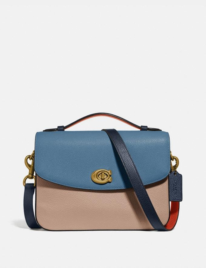 Coach Cassie Crossbody in Colorblock Brass/Lake Multi SALE For Her Bags