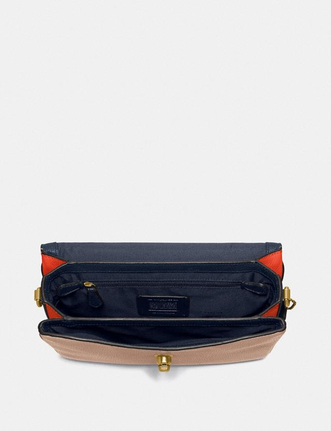 Coach Cassie Crossbody in Colorblock Brass/Lake Multi SALE For Her Bags Alternate View 3