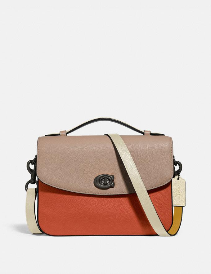 Coach Cassie Crossbody in Colorblock Pewter/Ginger Multi Women Handbags Satchels & Top Handles