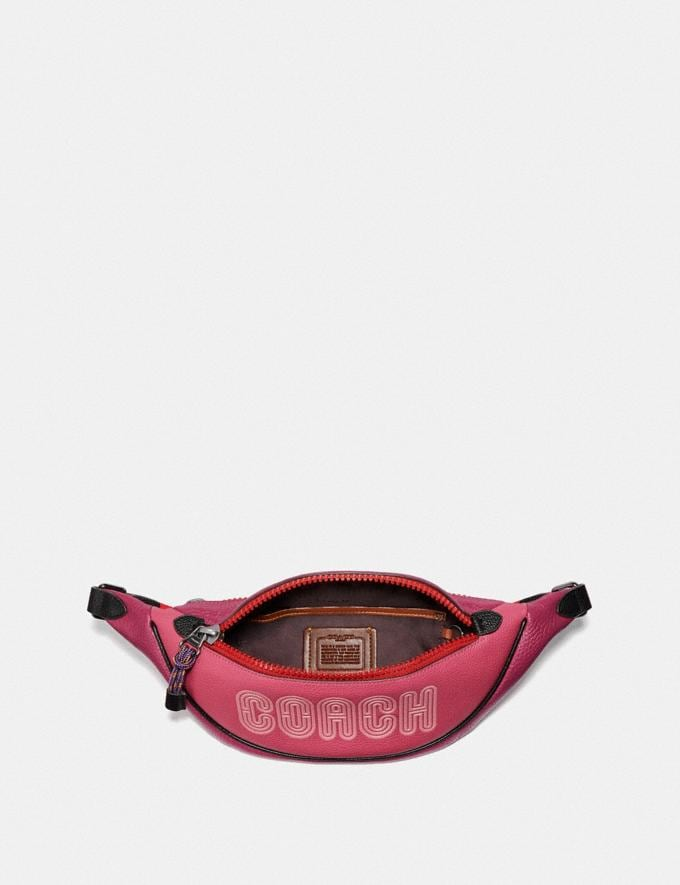 Coach Belt Bag 40 With Coach Print Bright Cherry Multi/Gunmetal Nouvelle En vedette Exclusivités-en-ligne Autres affichages 2