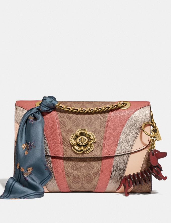 Coach Parker in Signature Canvas With Wave Patchwork Tan Multi/Brass Women Collection Parker Alternate View 4