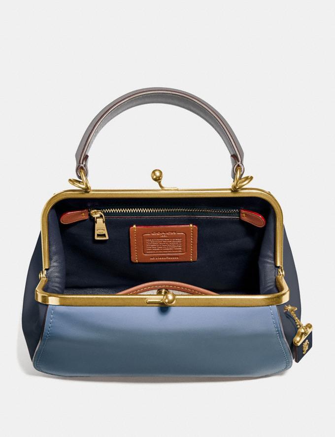 Coach Frame Bag 23 in Colorblock Slate/Brass Women Bags Satchels & Carryalls Alternate View 2