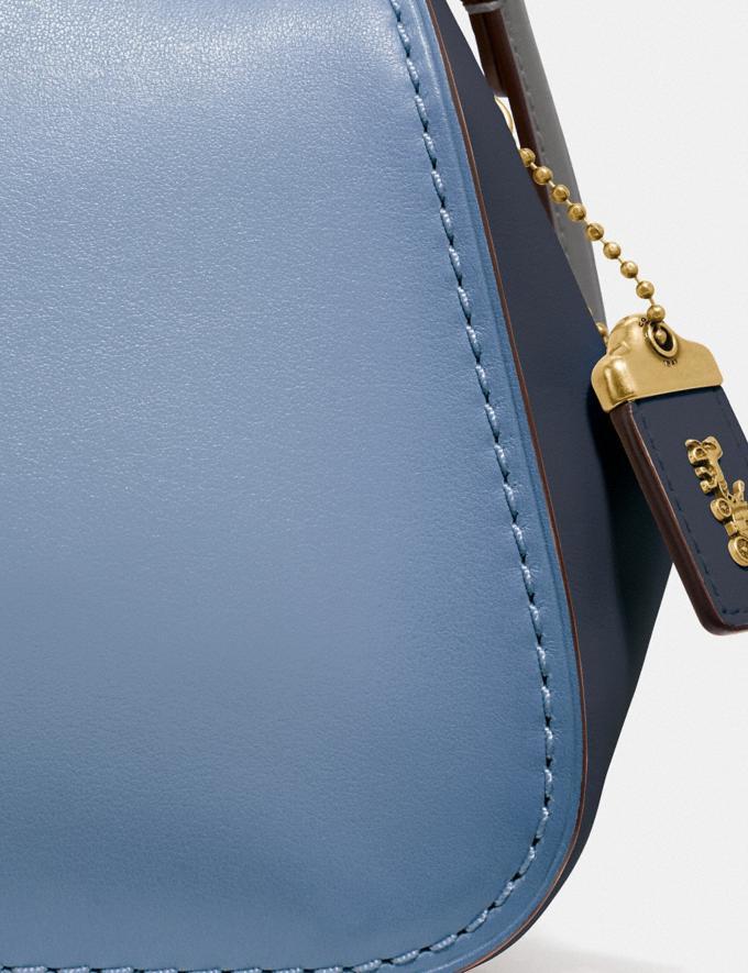 Coach Frame Bag 23 in Colorblock Slate/Brass Women Bags Satchels & Carryalls Alternate View 4