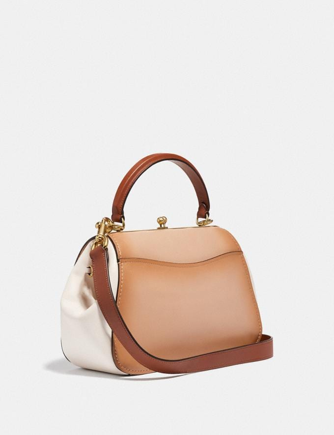 Coach Frame Bag in Colorblock Beechwood/Brass Women Bags Satchels & Carryalls Alternate View 1