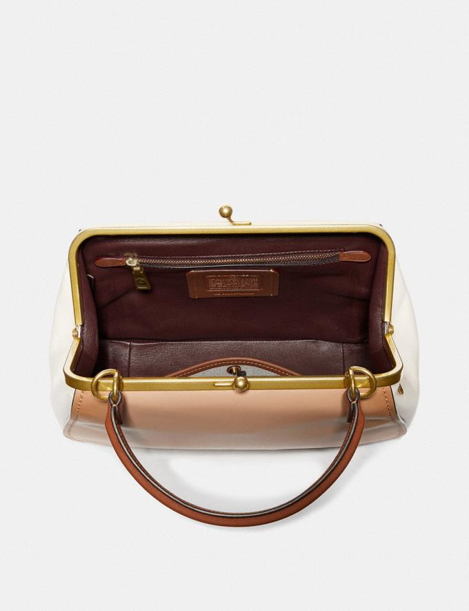 Coach Frame Bag in Colorblock Beechwood/Brass Women Bags Satchels & Carryalls Alternate View 2