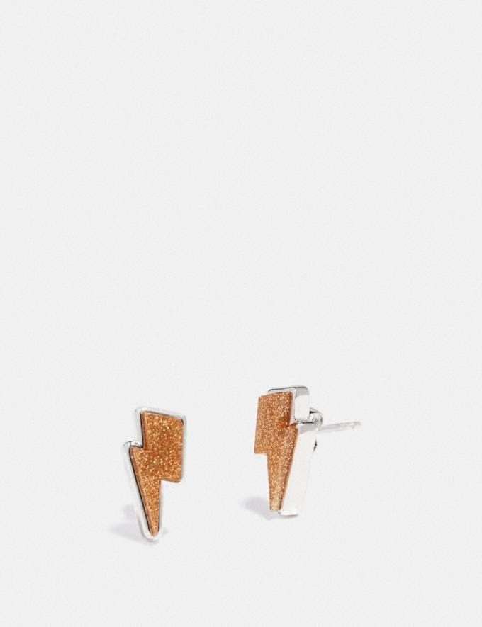 Coach Lightning Bolt Stud Earrings