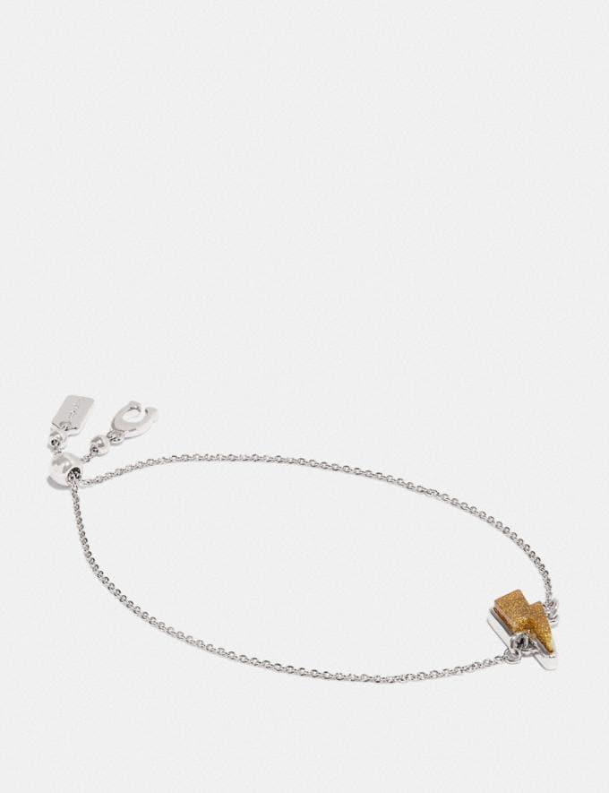 Coach Lightning Bolt Chain Bracelet Silver/Yellow SALE Women's Sale Jewellery and Watches