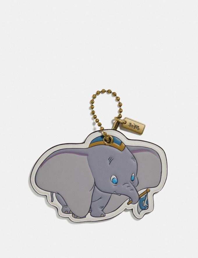 Coach Disney X Coach Dumbo Bag Charm Chalk/Brass Women Accessories Bag Charms & Key Rings