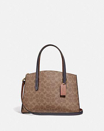 borsa portatutto charlie 28 in tela esclusiva a blocchi di colore