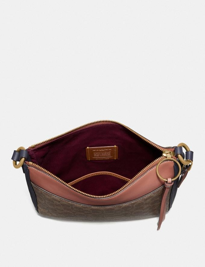 Coach Chaise Crossbody in Colorblock Signature Canvas Tan/Ink Light Peach/Brass Women Collection Signature Alternate View 2