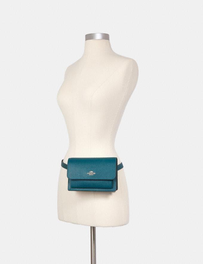 Coach Foldover Belt Bag Im/Teal Ink Deals Under $200 Alternate View 2