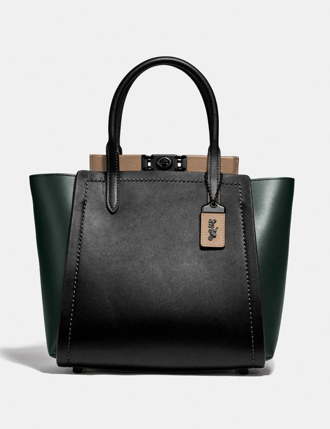 Coach Troupe Tote in Colorblock V5/Pine Green Multi New Women's New Arrivals