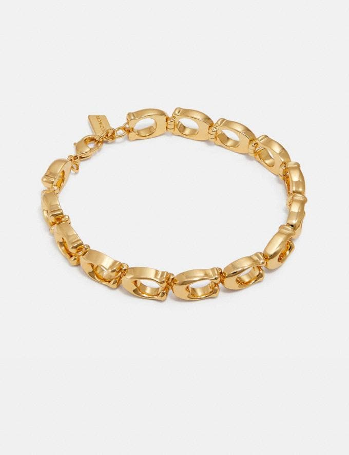 Coach Signature Bracelet Gold Women Edits Summer Picks