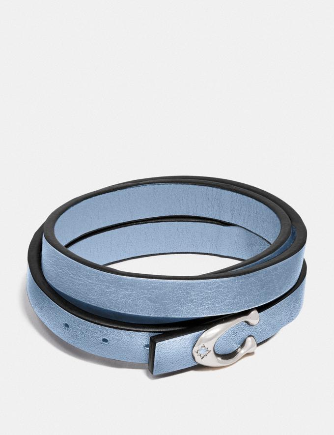 Coach Signature Bracelet Mist/Silver Women Accessories
