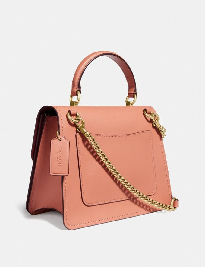 Coach Parker Top Handle With Butterfly Applique B4/Light Peach Back In Stock Back In Stock Bags Alternate View 1