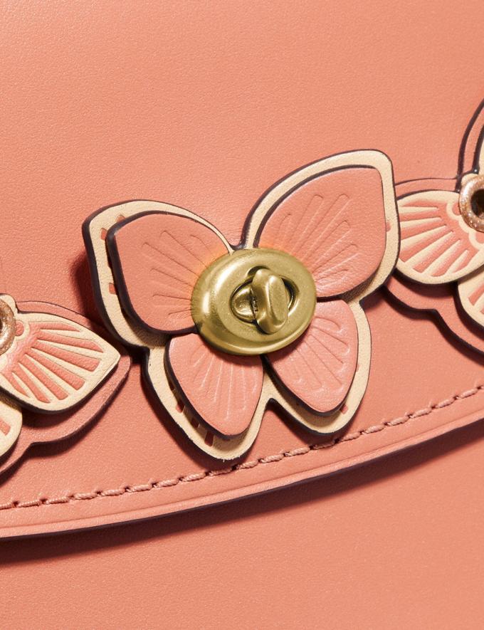 Coach Parker Top Handle With Butterfly Applique Light Peach/Brass Women Bags Satchels & Carryalls Alternate View 6