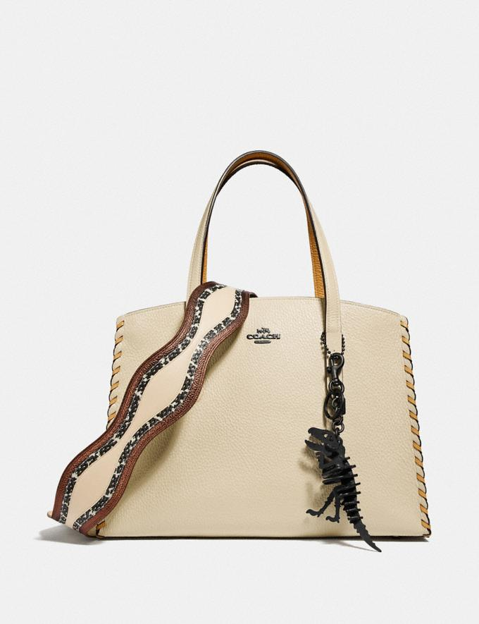 Coach Charlie Carryall in Colorblock With Whipstitch Ivory Multi/Gunmetal Gifts For Her Bestsellers Alternate View 3