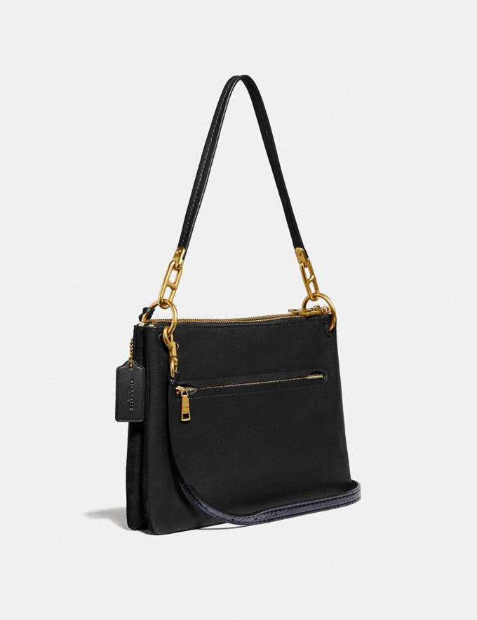 Coach Dreamer Shoulder Bag With Whipstitch and Snakeskin Detail Black Multi/Brass New Featured Online Exclusives Alternate View 1