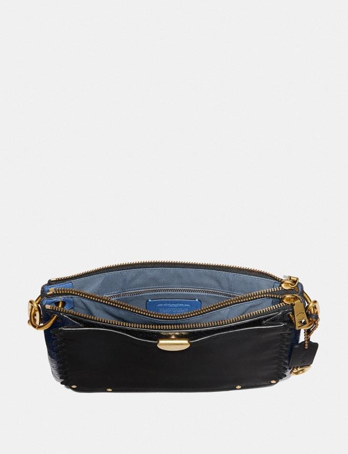 Coach Dreamer Shoulder Bag With Whipstitch and Snakeskin Detail Black Multi/Brass New Featured Online Exclusives Alternate View 2