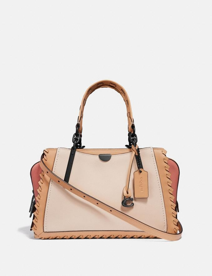 Coach Dreamer in Colorblock With Whipstitch Ivory Multi/Pewter null