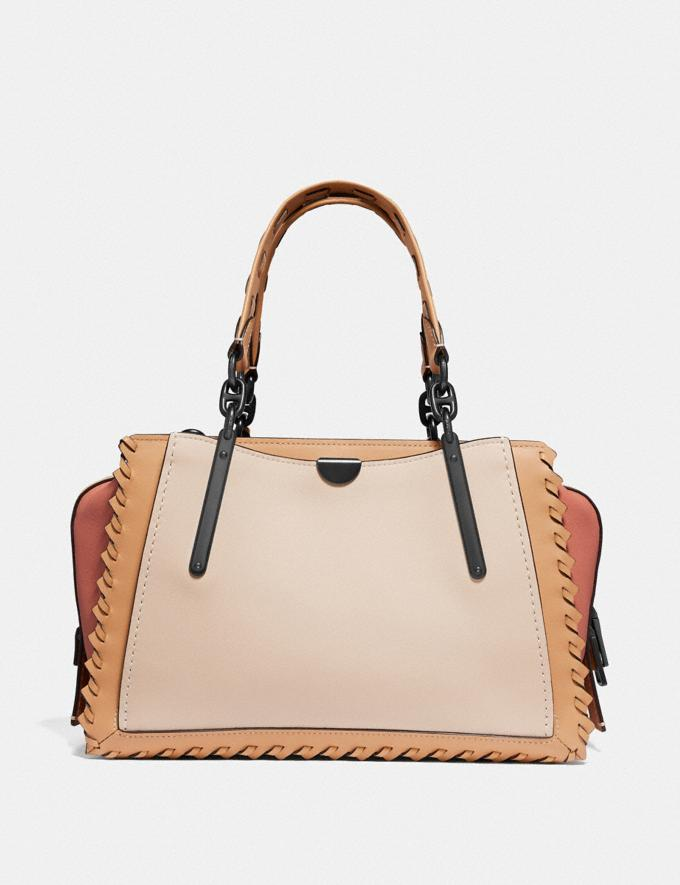 Coach Dreamer in Colorblock With Whipstitch Ivory Multi/Pewter New Featured Online Exclusives Alternate View 2