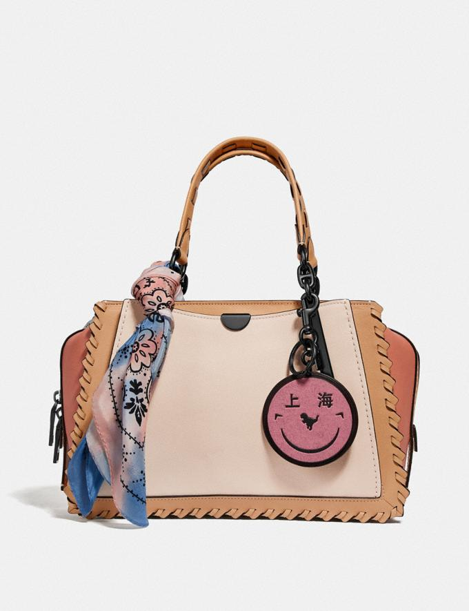 Coach Dreamer in Colorblock With Whipstitch Ivory Multi/Pewter New Featured Online Exclusives Alternate View 4