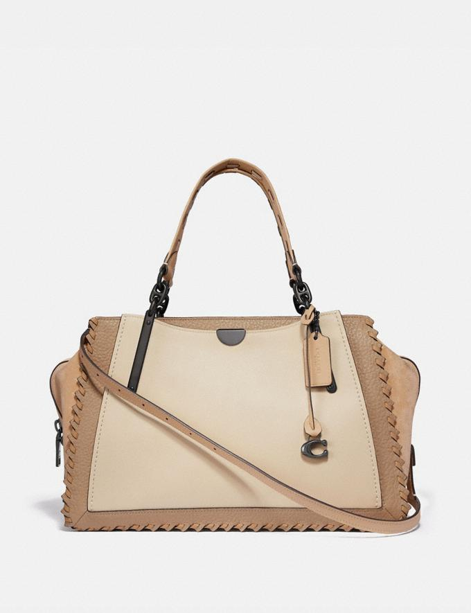 Coach Dreamer 36 in Colorblock With Whipstitch Ivory Multi/Pewter Women Collection Dreamer